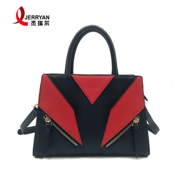 Genuine Cow Leather Travel Tote Bags with Zipper