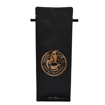 Resealable Custom Print Coffee Aluminum Packaging Bottom Bag