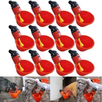 12 Pc Livestock drinking cup Feed Automatic Bird Coop Poultry Chicken Fowl Drinker Water Drinking Cups 12Pcs Dropship #82338