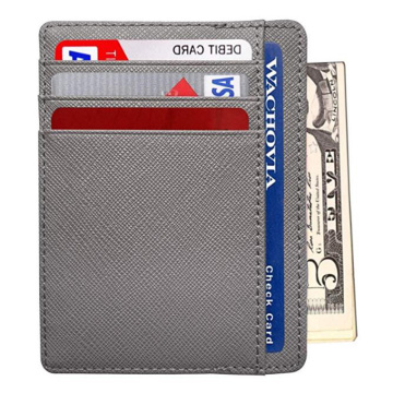 Minimalist Aluminum Leather Credit Card Case Holder Case