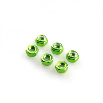 M2 threaded aluminum lock nut with flange washer