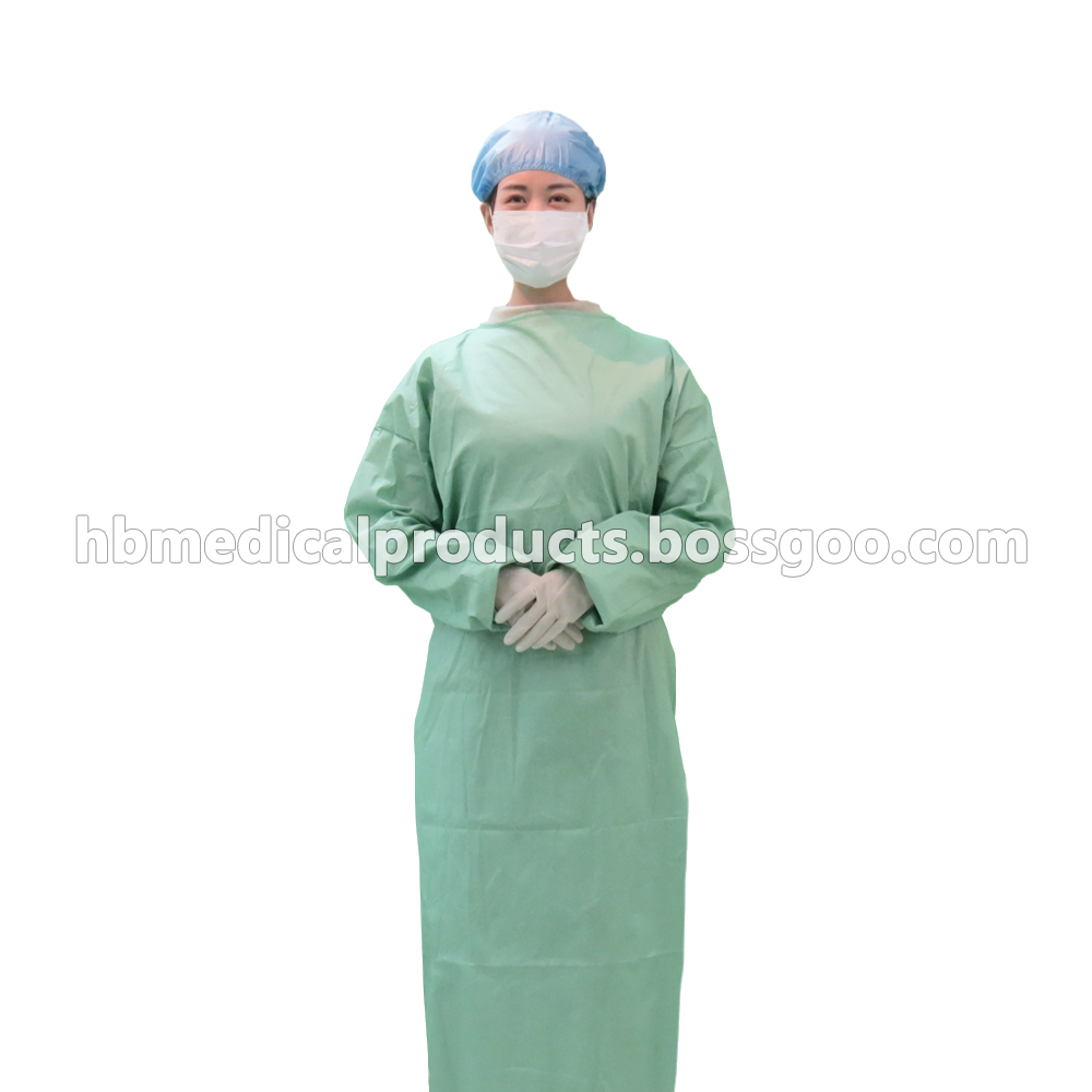 Disposable sterile operating gown