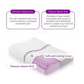Purple Contour Pillow with Cooling Grid