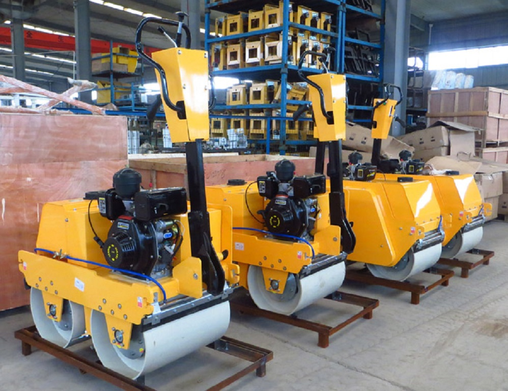 550kg Diesel Double Drums Earth Roller Compactor