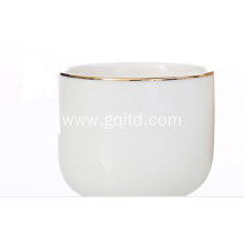 Export ceramic white color tea cup for hotel