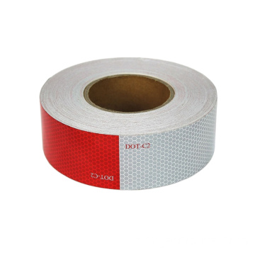 Acrylic red white reflective tape