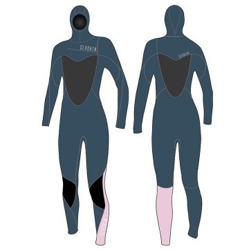Seaskin Diving Wetsuits Women's 5mm Hooded Chest Zip