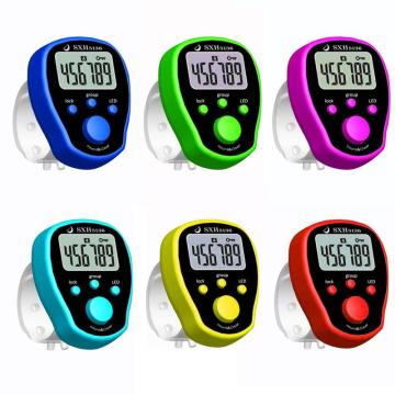1PC LCD Digit Electronic Finger Counter Resettable Hand Tally Five Groups Counters Finger Electronic Counter Random Color