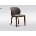 Madilim na Walnut Solid Wood Dining Chair