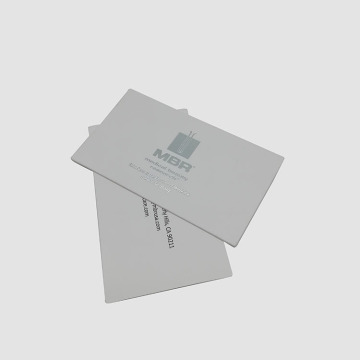 Economy Silver Foil Stamping White Business Paper Card