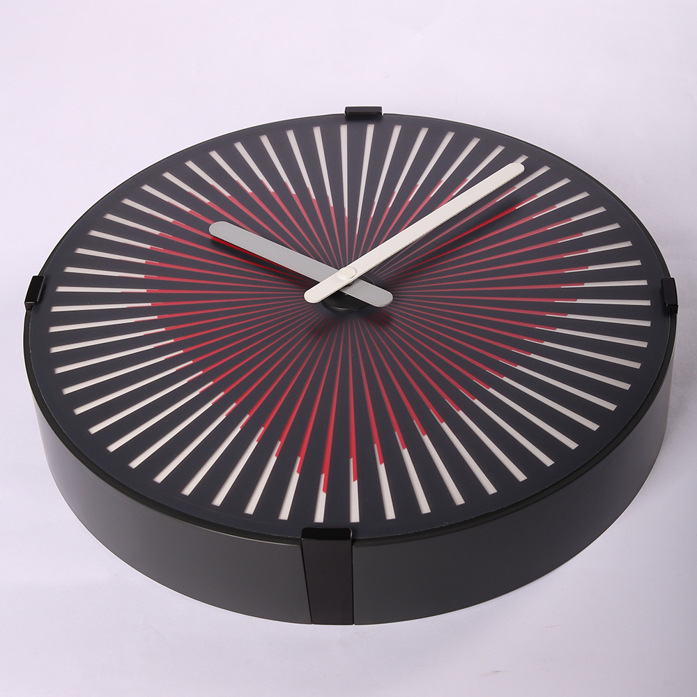 pink and black clock
