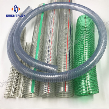 Food steel wire reinforced spring pvc hose pipe