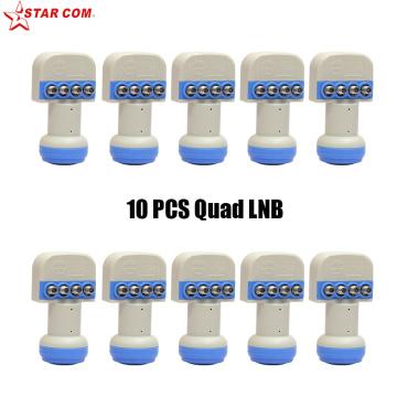 10pcs STAR COM LNB For Satellite TV Receiver KU BAND Universal Quad LNB Low Noise Figure 0.1dB LNBF Linear Polarization LNB