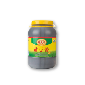 Plastic canned soybean paste used in restaurants