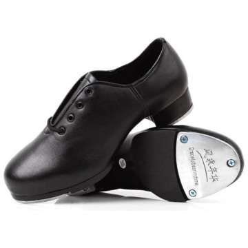 Leather Tap Dance Shoes for Children Boys Girls 3Years-15Y Students Lacing High-impact Aluminum Plate Taps Step dance Shoe 26-40