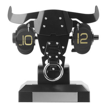 Bull Head Mode Flip Desk Clock With Lights