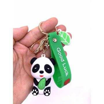 Panda Rubber Keychain Customized