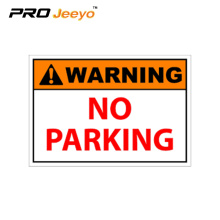 no parking traffic warning plastic sign board