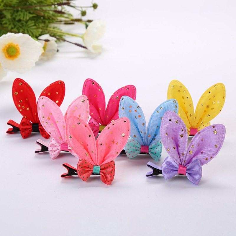 Bow tie rabbit ear hairpin rabbit ear clip (1)