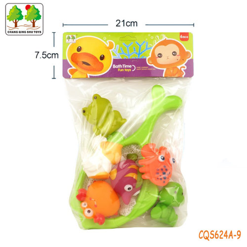 CQS624A-9 CQS soft toys 6PCS and fishing net