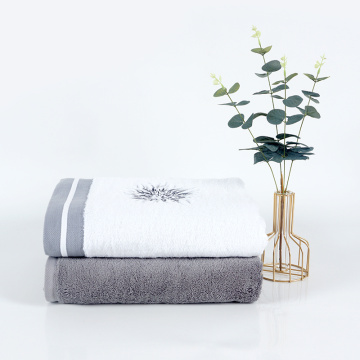 Luxury big gram satin gear embroidery towel set