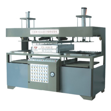 Semi automatic vacuum forming molding machine