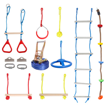 GIBBON Slackline Ladder, Swing, Wheel And Rings