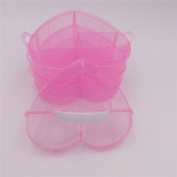 handle heart plastic boxes for jewelry