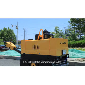 Mini tandem vibratory roller double drum walk behind vibratory roller asphalt roller for sale FYL-800C
