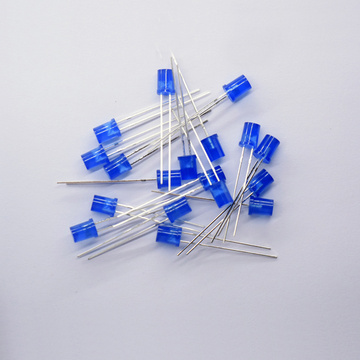 5mm Flat Top Blue Concave LED Blue Lens