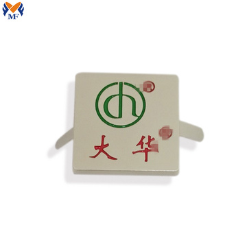 Factory custom metal logo plate for handbags