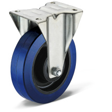 13 Series Elastic Rubber Flat Bottom Fixed Casters