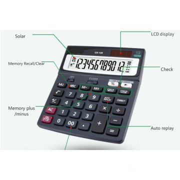 A Desktop calculator with two-way power