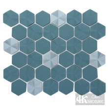Glass Hexagon Backsplash Mosaic Tile