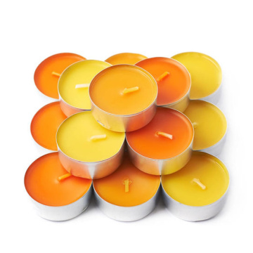 household pure white color tealight candle