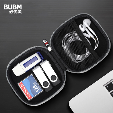 BUBM Portable Earphone Carry Case, Protection Hard Case Bag Holder for SD TF Card Headphone Earbuds iPod Flash Drive and Cable