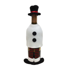 Christmas snowman shape wine bottle cover