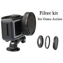 Aluminum Alloy 52mm Lens Adapter Ring UV / CPL Filter Step Up Ring Kit Lens Cap for DJI OSMO Action Camera Connector Accessories