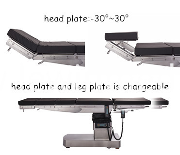 Surgical table with fda