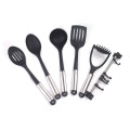 7pcs nylon kitchen cutlery set with hanger
