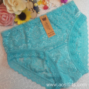 OEM wholesale China cheap sky blue sexy girl transparent seemless lace comfortable fancy underwear 5123