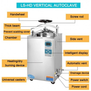 Hand open high pressure autoclave with printer