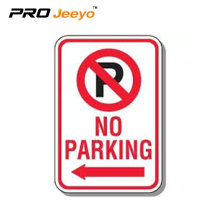 Aluminum reflective no parking road aluminum board sign