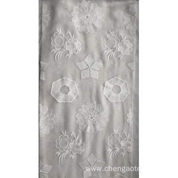 Four Patterns Chiffon Embroider Fabric