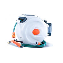 Automatic Rewind Garden Water Hose Reel with Brush