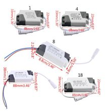 LED Constant Current Driver AC 85-265V 1-3W/ 4-7W/ 8-12W/ 12-18W/ 18-25W Power Supply Adapter Transformer for Panel Light