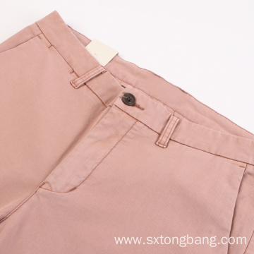 Man's Pink Woven Fabric Pants