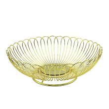 Gold Plating Stainless Steel Fruit Storage Basket