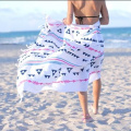 microfiber womens beach towel striped