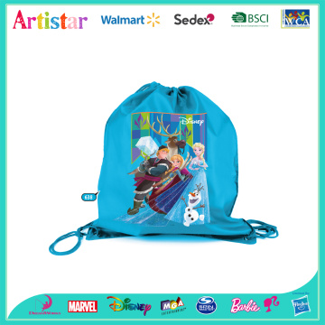 DISNEY FROZEN blue drawstring bag